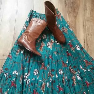 Circle T WESTERN MAXI Broomstick Tier SKIRT